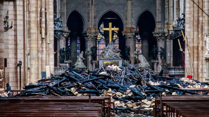 Notre Dame Interior After Fire